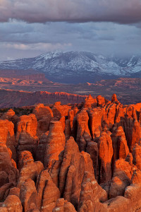 Sunset on Sandstone Fins, Utah
